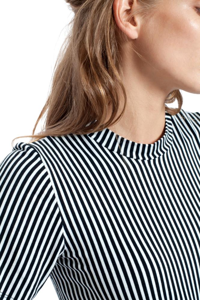 Striped Miao Basic T _ Black + White _ Riachi Studio Collection 001